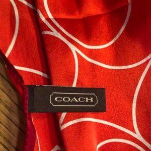 Coach Accessories - COACH 100% Silk Scarf - Cute with a Purse